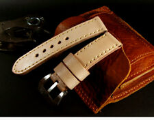 SV Vintage Tan Beige 24mm Cow Leather Band Strap for 44mm Panerai Marina Watch