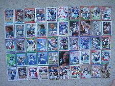 BUFFALO BILLS 50 Old FOOTBALL CARDS 1988 to 1990s with Thurman Thomas JIM KELLY