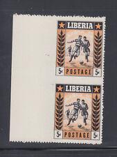 Liberia # 348 Imperf Horizontal & Vertical MNH Sports Football Soccer