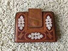 Vintage Women's Baronet Brown Leather Bifold Wallet
