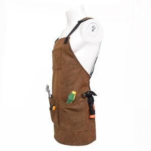 Canvas Bib Apron Pockets Woodworking Gardening Mechanic Tools Apron