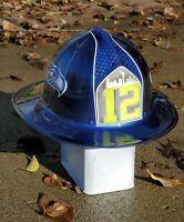 Custom painted Seahawks theme Fiberglass Fireman's Helmet made by Cairns & Bro