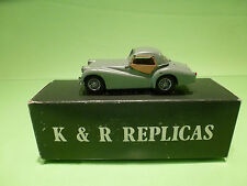 METAL BUILT KIT KR4 K&R REPLICAS TRIUMPH TR2  1:43 - RARE SELTEN - GOOD IN BOX