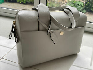 JEM+BEA Leather Baby Changing Bag in Light Grey