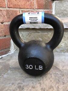 30 Lb  YORK New Cast Iron Kettlebell Weight Flat Bottom CrossFit Strength