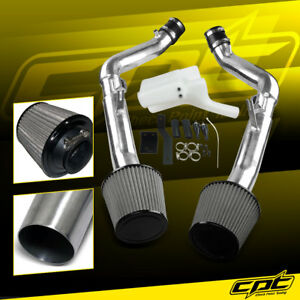 For 08-13 G37 2dr/4dr 3.7L V6 Polish Cold Air Intake + Stainless Air Filter