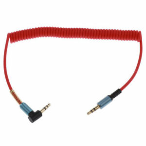 Coiled Aux Cord for Car, Male to Male 3.5mm Auxiliary Stereo Audio Cable with