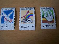MALTA,REPUBLIC ANNIV.3VALS,U/MINT.EXCELLENT.