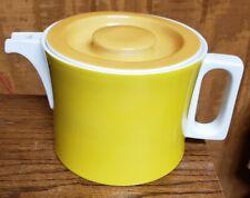 Vintage Block Chromatics Gold/Brown Coffee Pot 6 Cup Excellent Condition