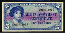 USA 1961, Military Payment, Series 591, 5 Dollar, M48, VF Extremely Rare