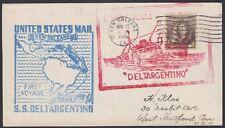 """U.S 1940. Maiden Voyage """"Deltargentino"""", New Orleans - Buenos Aires"""
