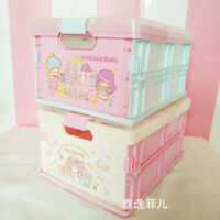 My Melody Cinnamoroll Desktop Jewelry Organizer Cosmetic Storage Box Case Gifts