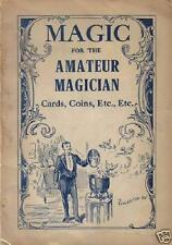 4 Magic Books Printed from 1897-1934 magician