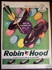 1959  Easter egg art Robin Hood Shoes Brown Shoe Co ad