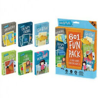Hoyle 6 In 1 Fun Pack Kids Playing Cards Games Go Fish Crazy 8 Old Maid Slapjack