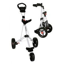 Trimaster 2 Fastfold Lightweight Three Wheel Push / Pull Golf Trolley White New