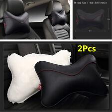2Pcs/set PU Leather Car Headrest Breathe Seat Head Neck Rest Pillow Accessories