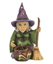 "Jim Shore Halloween Figurine ""Mini Witch with Cauldron"" 4047845 * Free Shipping"