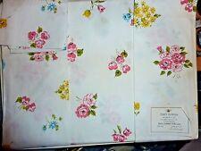 Fieldcrest Sheet / pillowcases Party Flowers Vintage