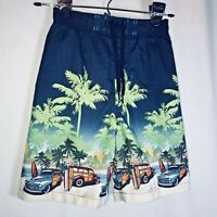 Jumping Beans Woodie Surf Boards Swim Trunks Mesh Lined Size L 7 Hawaiian Shorts