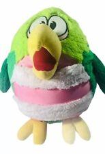 "KooKoo Birds 16"" Plush Pink Tummy & Green Microbead Plumed Bird of Paradise"