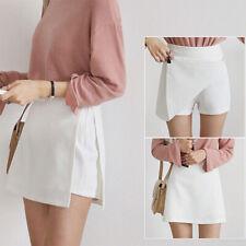 Women High Waist Skirts Fake Two Pieces Skirts Short  A Line Skirts S-2XL