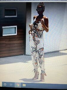 Womens Holiday Floral Boho Playsuit Ladies Jumpsuit Summer Beach Dress UK Size S