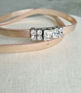 WITCHERY Paloma rose gold waist skinny belt! Size S/M (for XS, S, M) RRP$59. New
