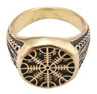 Aegishjalmur Helm of Awe Helmet of Horror Nordic Rings Pagan Jewelry for Men [8]