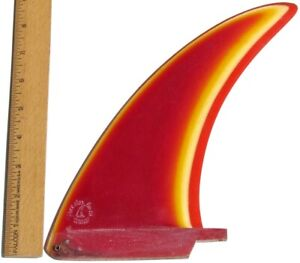 Vintage All Original 1970s Rainbow 3 Color Fiberglass Surfboard Fin FREE SHIP