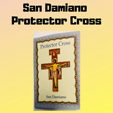 "San Damiano 2"" Cross on Cord Necklace, NEW"