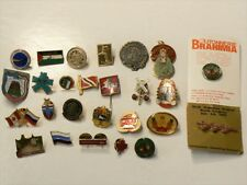 International Pins Flag Armories Asia Arab Europe Lot of 26 Different Pins #1890