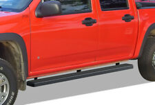 """iBoard Running Boards 5"""" Black Fit 04-12 Chevy Colorado/GMC Canyon Crew Cab"""