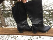 """L.L. Bean Women's 9.5 Black Leather 2"""" Heel GORGEOUS Tall Boots Barely Worn"""