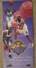 1998-99 Connecticut Pride basketball brochure sked Adrian Griffin Kevin Ollie
