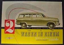 1958 Borgward Isabella Combi Station Wagon Brochure Folder Excellent Original 58
