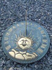 CADRAN SOLAIRE EN BRONZE , cadran solaire en bronze de sol , LE SOLEIL .