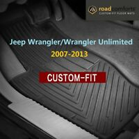 Custom Fit Jeep Wrangler/Wrangler Unlimited 2007-2013 Car Floor Mats Front Row