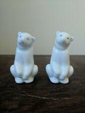 Lladro Nao Porcelain Spain Sitting Polar Bear Figure Animal Ornament Pair 2