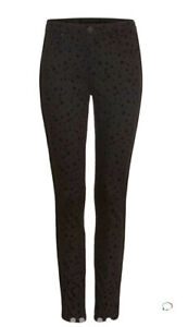 Phase Eight Aida Skinny Fit Black Star Print Jeans Size 16