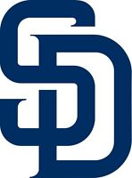 "San Diego Padres SD Vinyl Decal - You Choose Size 2""-38"""