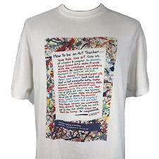 New listing Vintage 90s How to Be an Art Teacher Single Stitch T Shirt Men's M/L Artist Tee