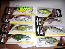 Lindy Shadling perch firetiger purple smelt pike bass lures discontinued ! htf