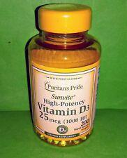 Vitamina D3 1000 IU 200 perlas PURITANS PRIDE Osteoporosis Cancer Cardiovascular