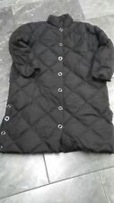 Nwt H & M womens DOWN /FEATHER coat BLACK SNAPS  S