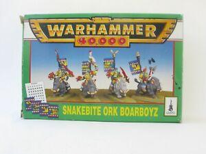 Warhammer 40,000 40K Snakebite Ork Boarboyz Citadel Miniatures OOP Original Box