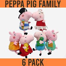 Peppa Pig & Full Family George Dad & Mum 20cm Plush & Soft toys (Set of 6)