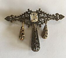 Designer Vintage Brooch Pin Costume Jewelry Signed Sadie Green