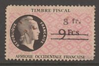France Revenue Fiscal Africa stamp 4-10-21- French West Africa