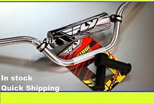 ltz 400 handlebars fly racing aluminum bar hand grips grip glue polish 7/8 z400